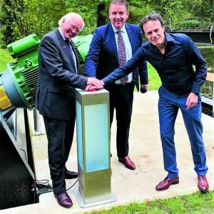 Nieuwe waterkrachtcentrale Landgoed Singraven in gebruik genomen
