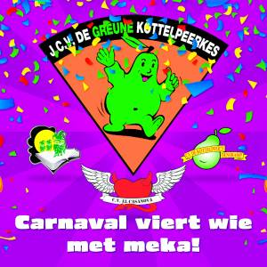 Carnavalsvlag voor heel 'N Dorp, <br />#Carnavalviertwiemetmeka!