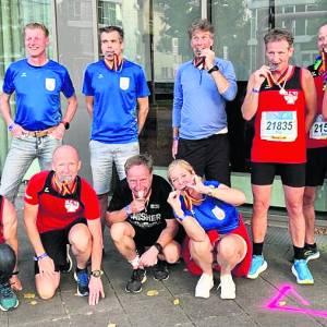 OLC'ers komen goed voor de dag in veel te warme marathon  van Berlijn