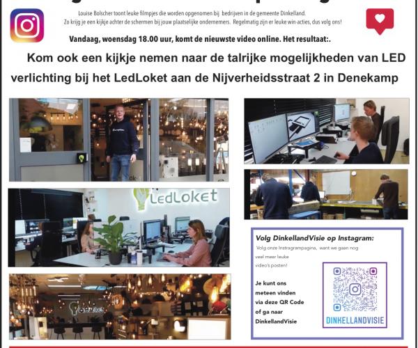Zie jouw plaatselijke ondernemers eens anders dan anders: Volg DinkellandVisie op Instagram