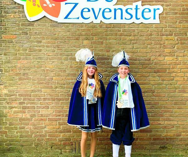 Prins Daan en prinses Doutze hoogheden basisschool de Zevenster