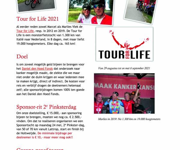 Pinkstersponsorrit op 24 mei T.b.v. Daniel den Hoed Fonds