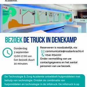 Infotruck Technologie & Zorg Academie komt op 3 september naar Denekamp