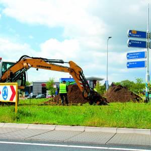 Realisatie van kunstwerk op rotonde nabij Partycentrum Ensink is begonnen