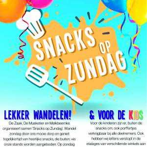 Zondag 14 februari a.s. centrum Denekamp<br />Geen carnavalsoptochten, dan maar al wandelend 'Snacks op Zundag' in centrum Denekamp…