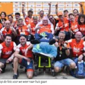 En maar liefst € 100.000 bijeen gebracht:<br />ALS-team Machinefabriek Westerhof: 'toppers' op top Mont Ventoux