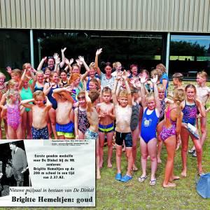 Brigitte hemeltjen: al decennialang dinkelgoud<br />Voorbeeldige zwemtopper neemt afscheid
